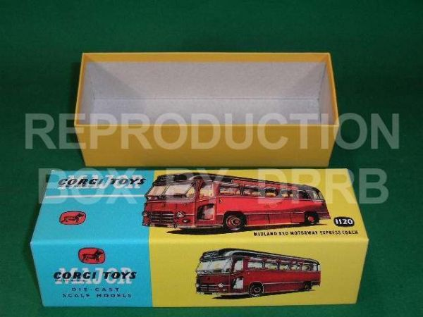 Corgi. #1120 Midland Red Motorway Express Coach - Reproduction Box